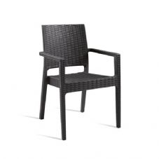 Vanna Mint Arm Chair - Dark Grey